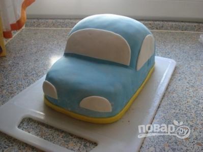 торт из машинка из мастики
