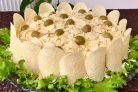 Сытный салат Золотой петушок