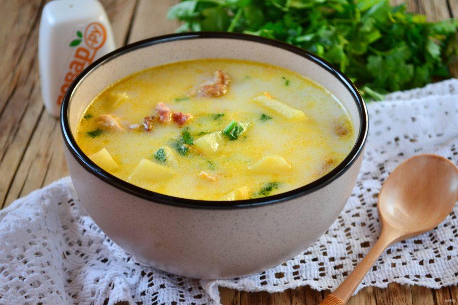 Суп с копченой курицей картинки