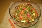 Салат из зеленой чечевицы диетический