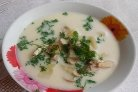 Грибной суп из шампиньонов с плавленым сыром