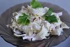 Салат с блинами из крахмала
