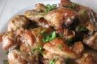 Курица с базиликом в духовке