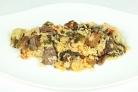 Говядина, тушеная с рисом и овощами