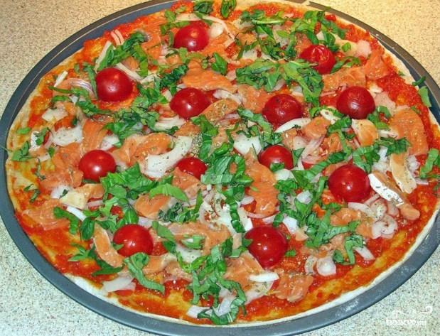 пицца с красной рыбой рецепт