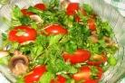Салат с грибами отварными