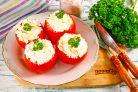 Помидоры с плавленным сыром и чесноком