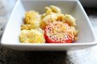 Паста с помидорами, сыром и панировочными сухарями