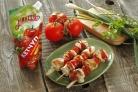 Шашлык из курицы с помидорами черри