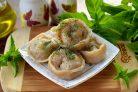 Вегетарианские пельмени с кабачками