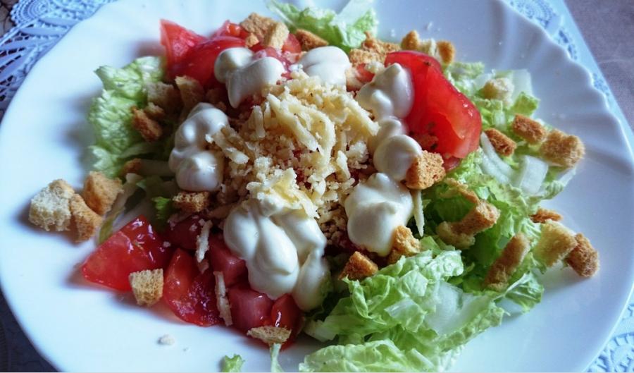 """Вегетарианский салат """"Цезарь"""""""