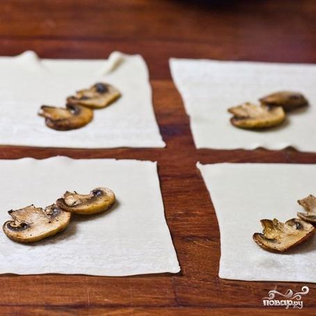 Роллы с индюшкой и грибами