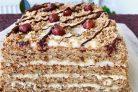 Торт Женский каприз с ореховыми коржами