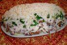 Салат с кальмаром консервированным
