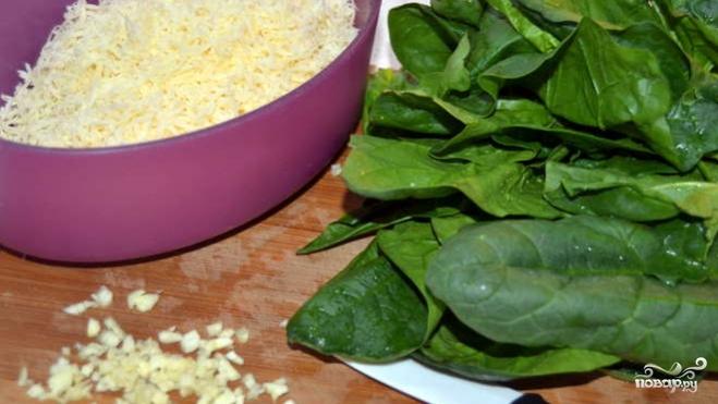 Шпинат с сыром