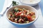 Паста с помидорами и моцареллой