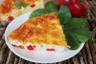 Творожная запеканка с болгарским перцем и кукурузой
