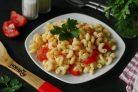 Постные макароны с овощами