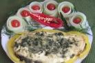 Красная рыба под соусом