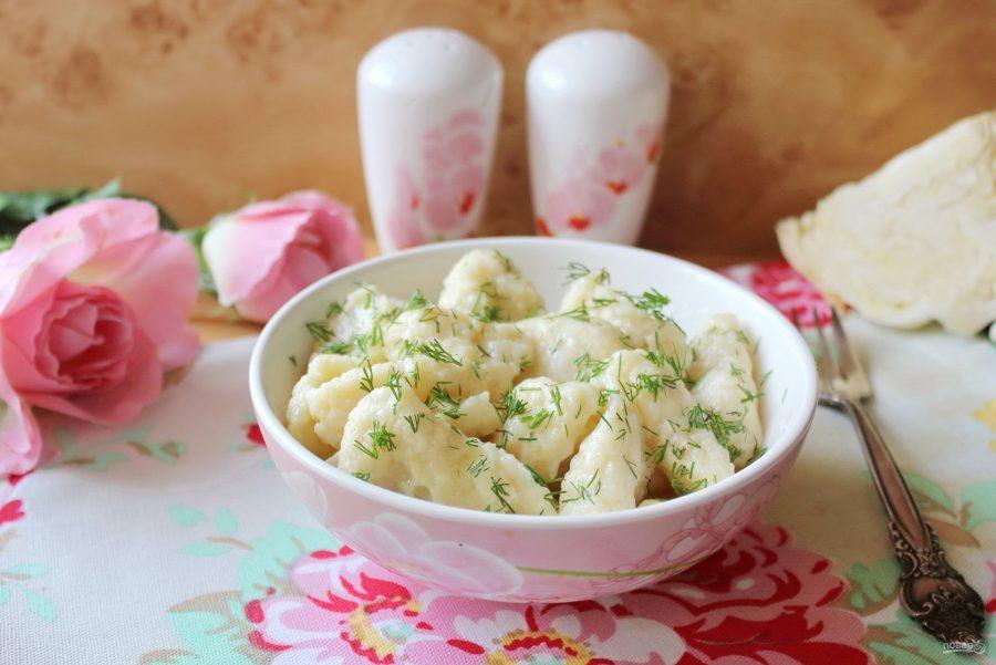 Клецки из белокочанной капусты