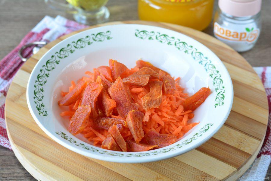 Салат из моркови и кураги