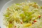 Постный салат с капустой
