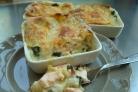 Лазанья с лососем и шпинатом