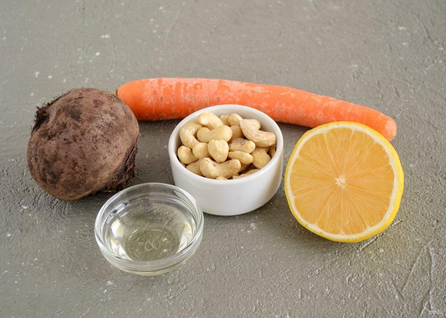 Салат с сырой свеклой и орехами