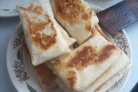 Конвертики из лаваша с ветчиной и сыром