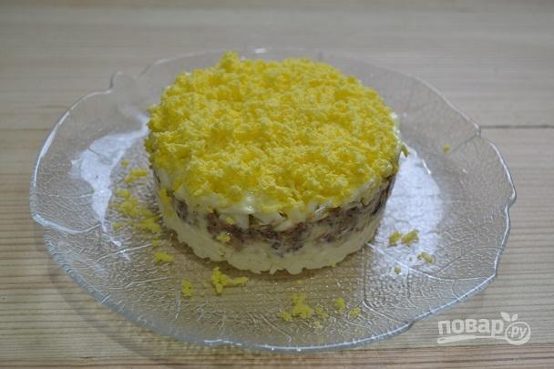 Салат с сардиной и сыром