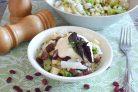 Салат из брокколи, цветной капусты и фасоли