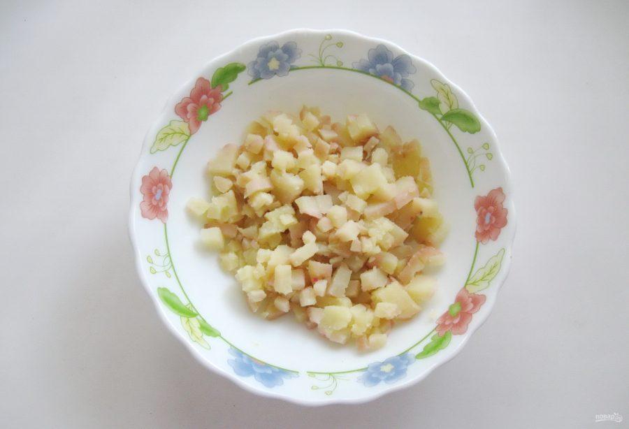 Винегрет с зеленой фасолью