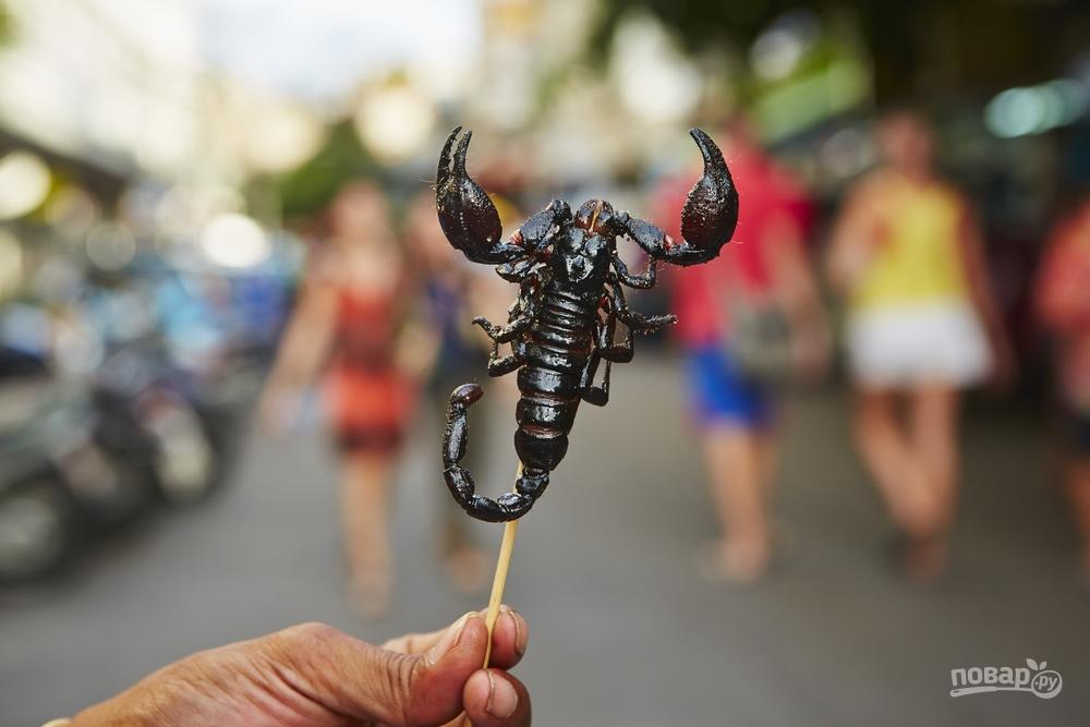 Сушеный скорпион
