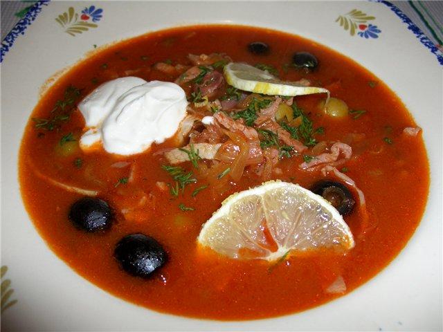 Суп солянка с сборная рецепт пошагово 24