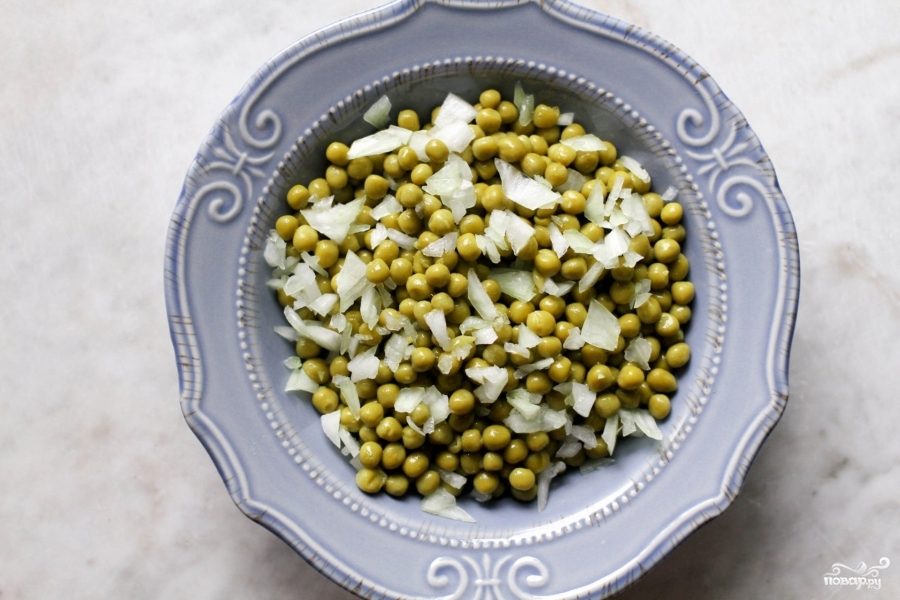 салат с зелёным горошком-рецепт