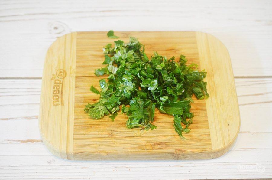"""Овощной салат с булгуром """"Кысыр"""""""