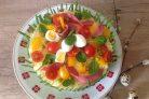 Праздничный торт-салат Оливье