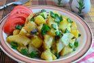 Картофель с шампиньонами в мультиварке