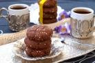 Песочное печенье с шоколадом и кунжутом
