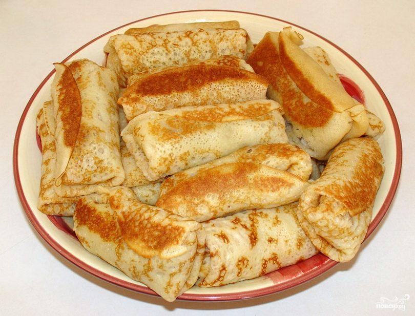 Блинчики - пошаговый рецепт с фото на Готовим дома