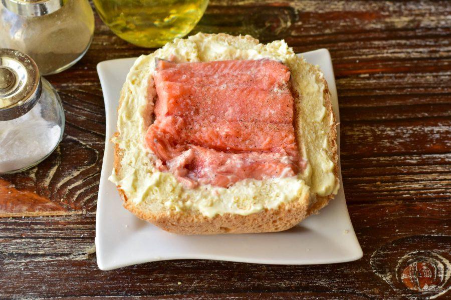 Рыба запеченная в хлебе