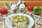 Курица запеченная с кабачками и картофелем в духовке