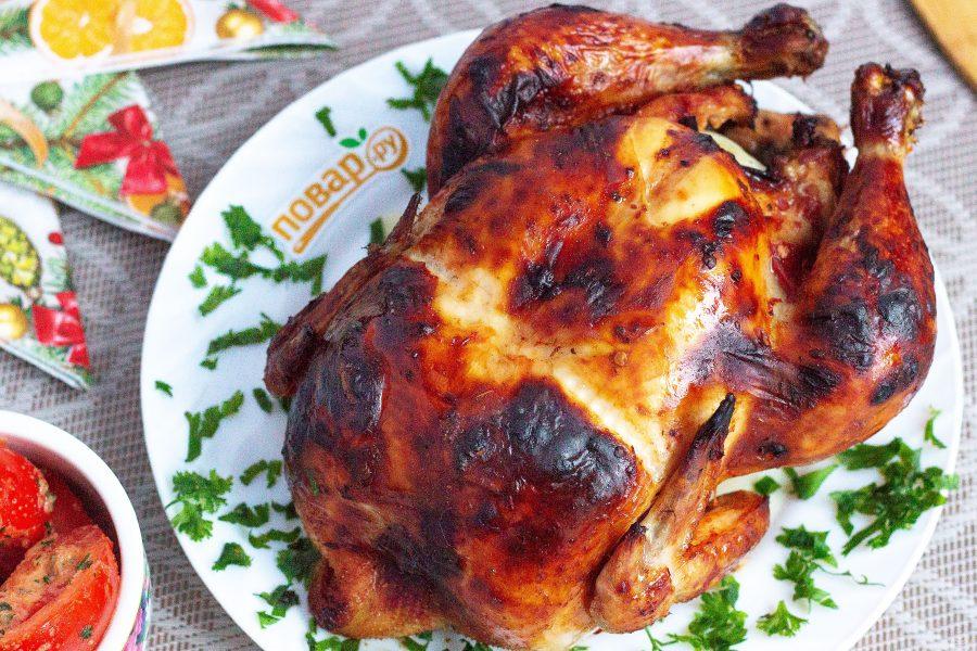 Курица с аджикой в духовке