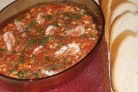 Креветки, запеченные под соусом