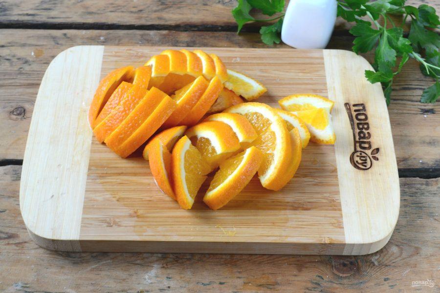Утка, тушеная с апельсинами