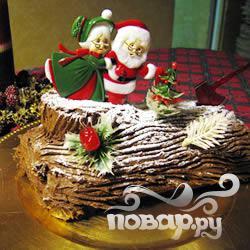 Рецепт Шоколадное Рождественское полено