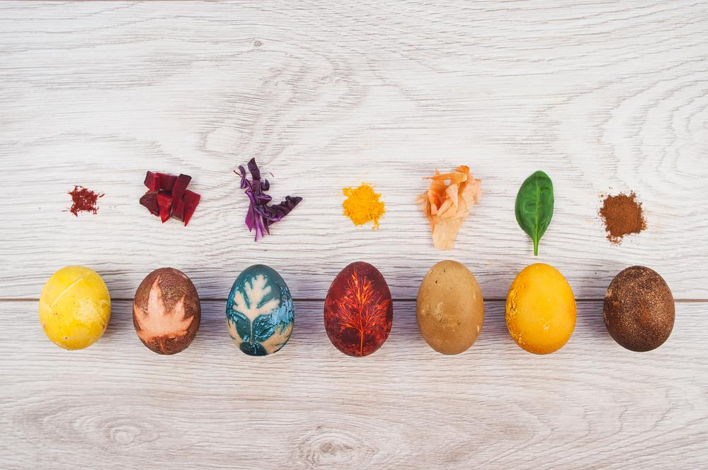 Натуральные красители: шафран, свекла, краснокочанная капуста, куркума, луковая шелуха, шпинат, кофе