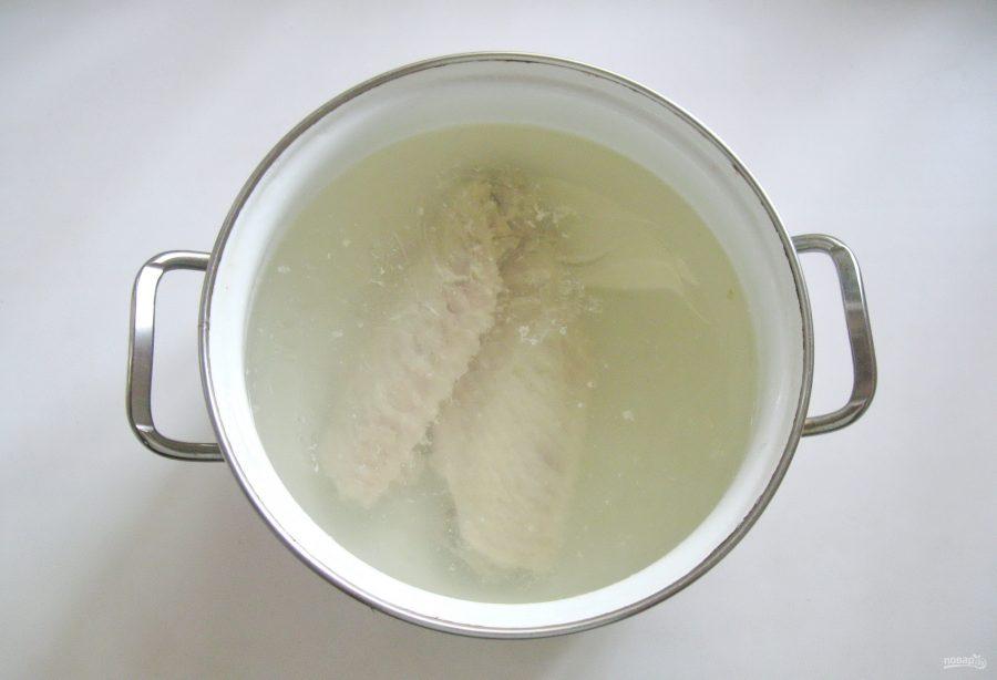 Суп из индейки с цветной капустой