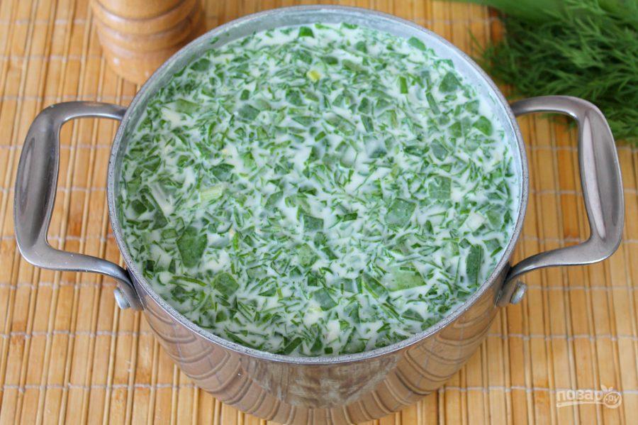 Холодный суп из шпината