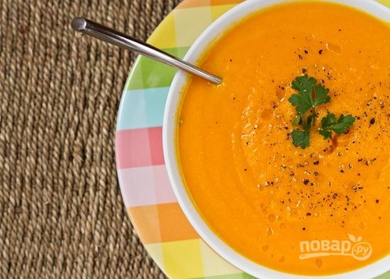 Суп-пюре с яблоками и морковью